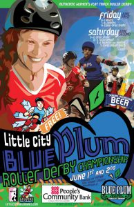 Poster for the Blue Plum Roller Derby Championship