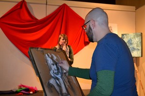 Drawing Demo at the February Art D'Vine Art Walk
